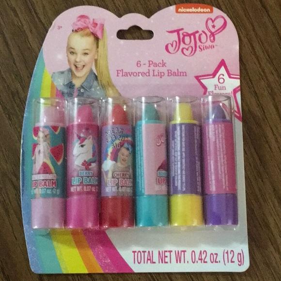 Jojo Siwa 6 -pack flavored Lip Balm